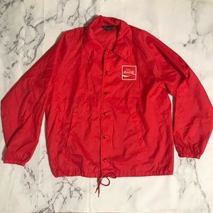 Vintage Red & White Coca Cola Windbreaker